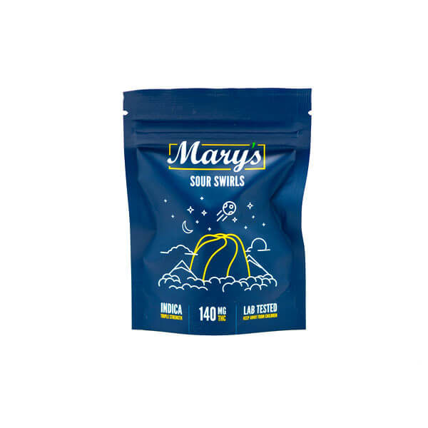 Mary's Sour Swirls Edibles THC CBD