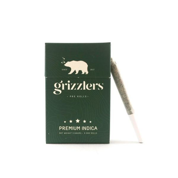 Grizzlers Pre Rolls - Indica